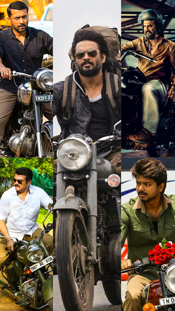 Kollywood heroes and Royal Enfields