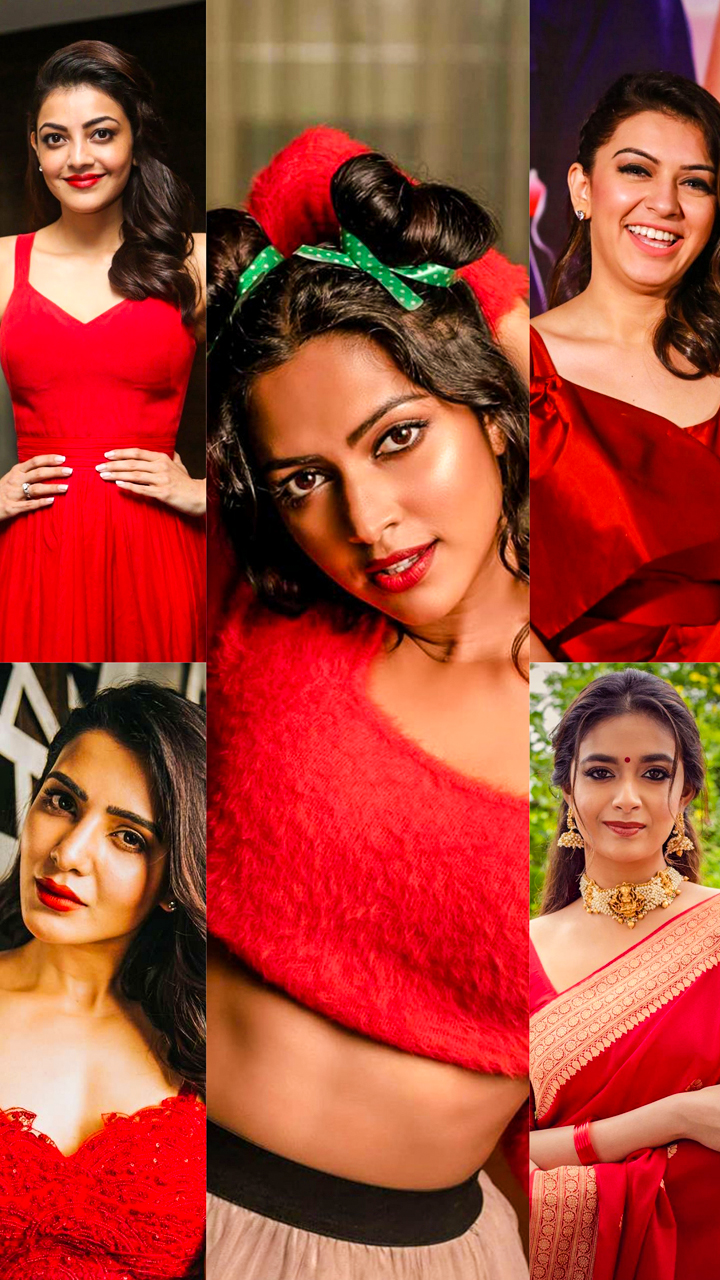 Kollywood queens in Ravishing Red
