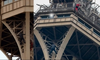 Man arrested for Climbing Eiffel Tower