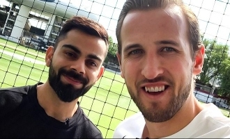 Football Meets Cricket: Captains Kane and Kohli Catch Up