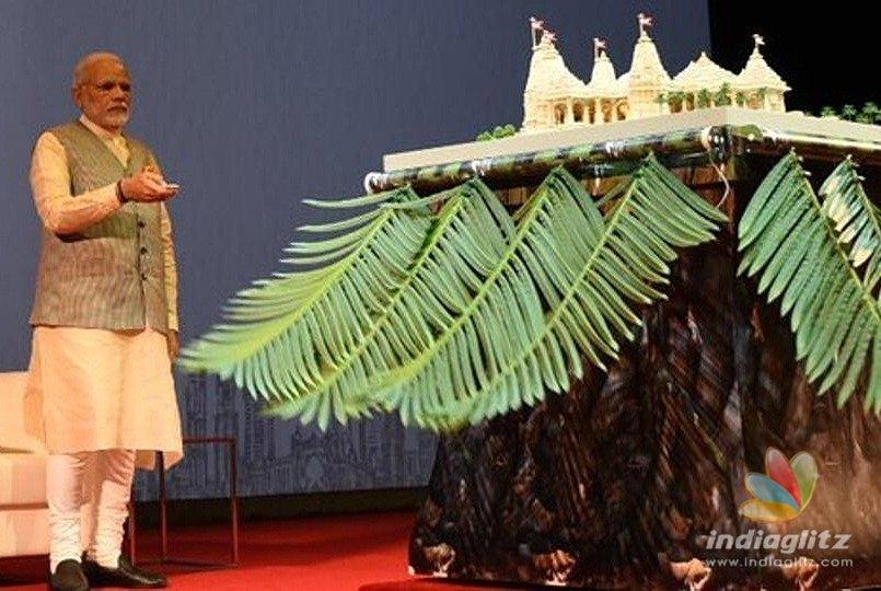 Modi lays foundation stone for a Hindu Temple in Abu Dhabi