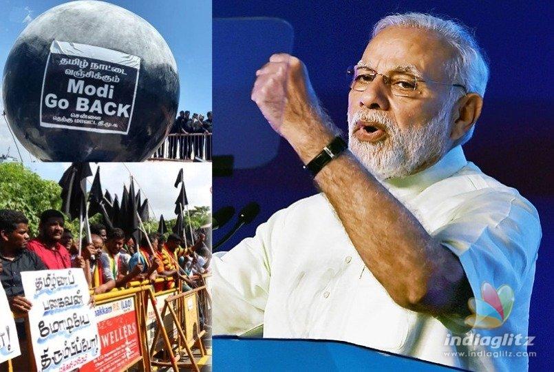 Amid 'black' protests, PM inaugurates Defence Expo in Chennai's Tiruvidandhai