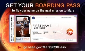 Here is your chance to send your name to Mars