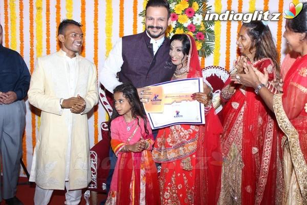 Vivek Oberoi at Acid Survivor Lalita Bansi's Wedding