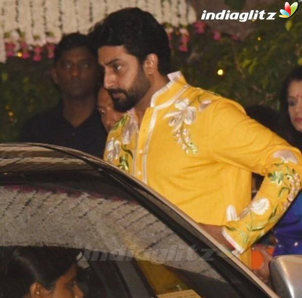 Salman, Aishwarya, Sanjay Dutt, Shah Rukh attend Ambani's Ganesh Chaturthi Celebration