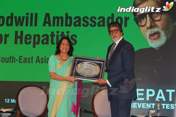 Amitabh Bachchan as WHO Goodwill Ambassador for Hepatitis Awareness