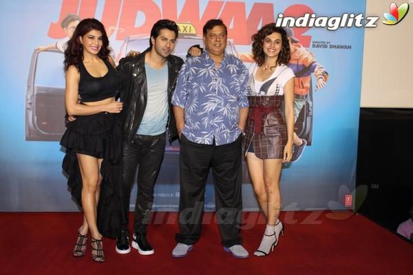 Varun Dhawan, Jacqueline Fernandez, Taapsee Pannu at 'Judwaa 2' Trailer Launch