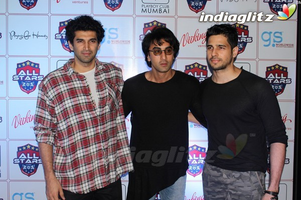 Ranbir Kapoor, Sidharth Malhotra, Aditya Roy Kapur at Celebrity Football Initiative Played For Humanity