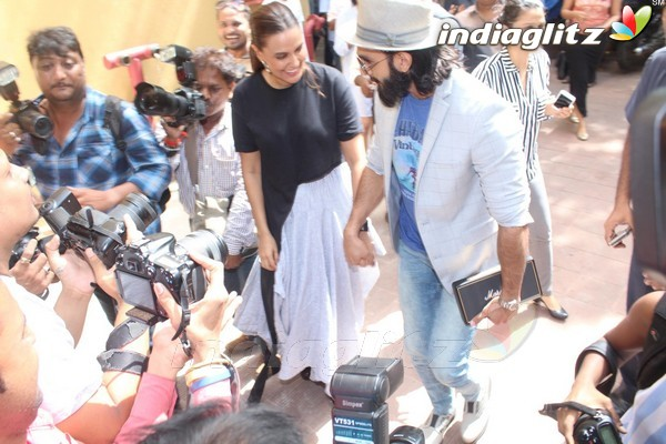 Ranveer Singh & Neha Dhupia Spotted Before the Recording of their Episode