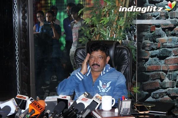 Ram Gopal Varma at Web Series 'Guns & Thighs' Press Meet