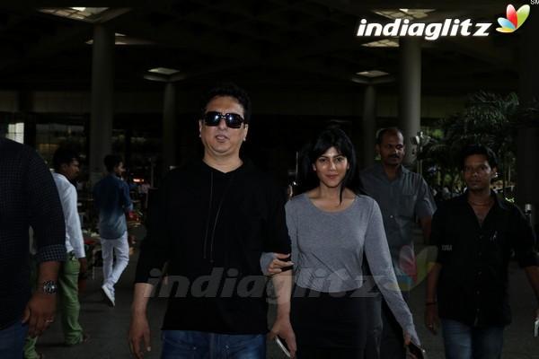 Sajid Nadiadwala Spotted at Airport