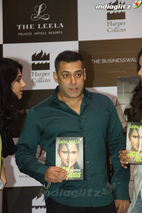 Events - Salman Khan Launches Sania Mirza's Book 'Ace