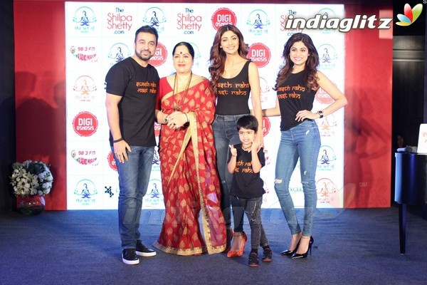 Tiger Shroff at Launch of Shilpa Shetty's Wellness Series
