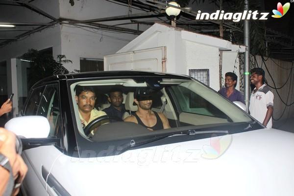 Sushant Singh Rajput Spotted at Korner House Bandra