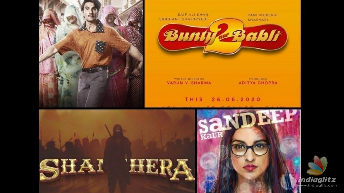 Check out the release dates for upcoming Yash Raj Studios movies