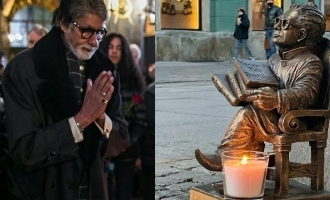 Amitabh Bachchan's father honoured at the Worclaw on Diwali.