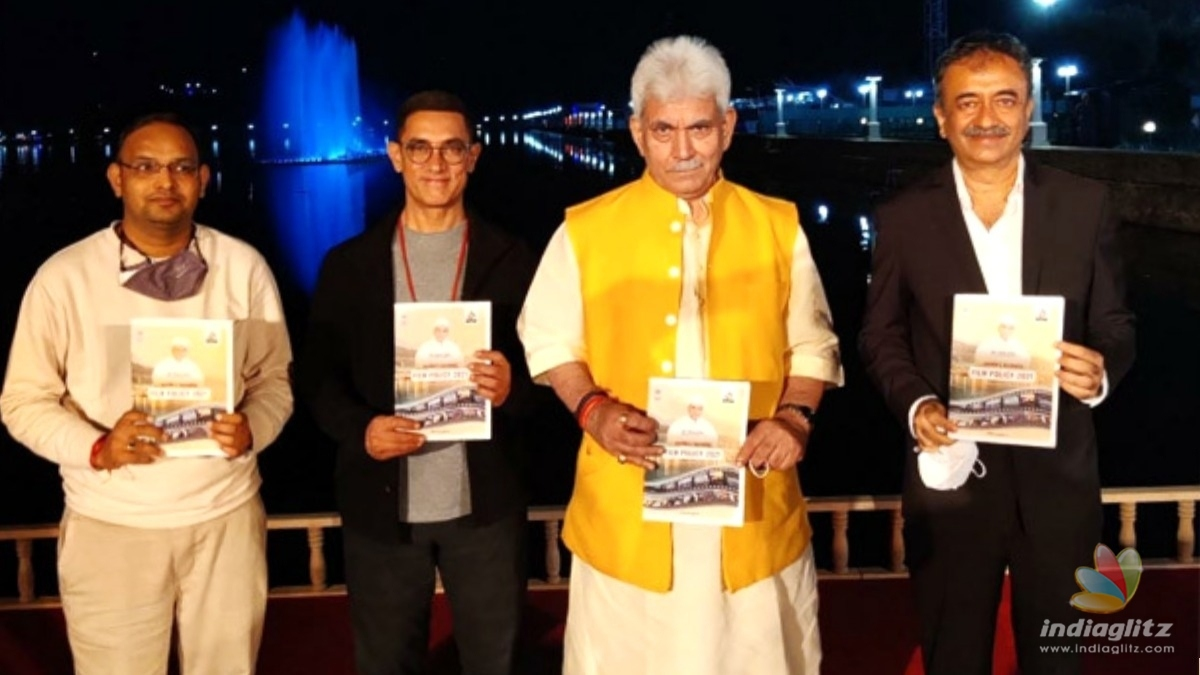 Aamir Khan joins J&K Lt Gov while launching the new film policy