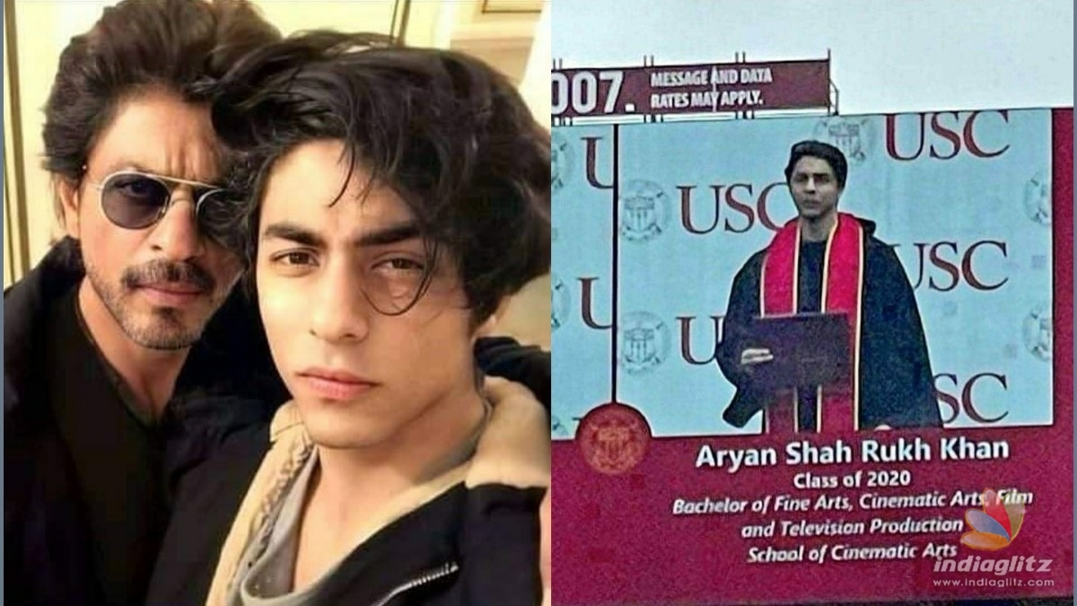 Take a look at Aaryan Khans graduation photo