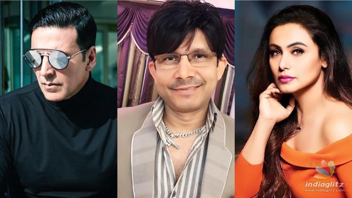 KRK makes terrible remarks about Akshay Kumar and Rani Mukherjee