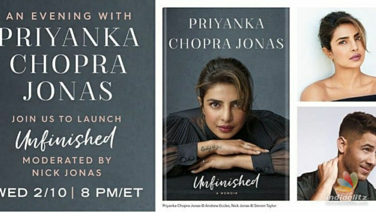 Priyanka Chopra shares an update about the release of her memoir Unfinished