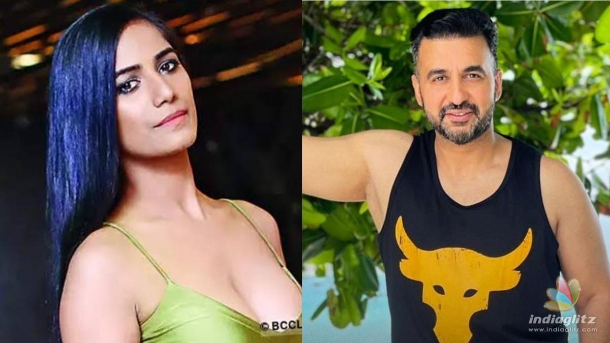 Poonam Pandey reacts to Raj Kundras arrest