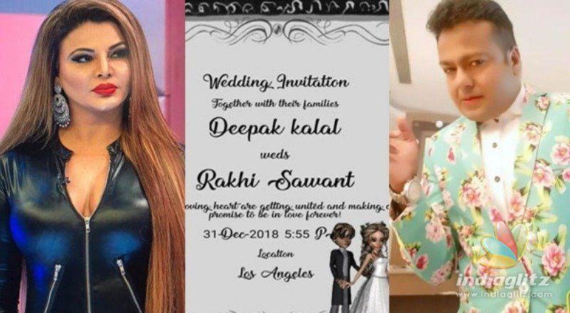 Rakhi Sawant Entering Wedlock with Deepak Kalal in Los Angeles