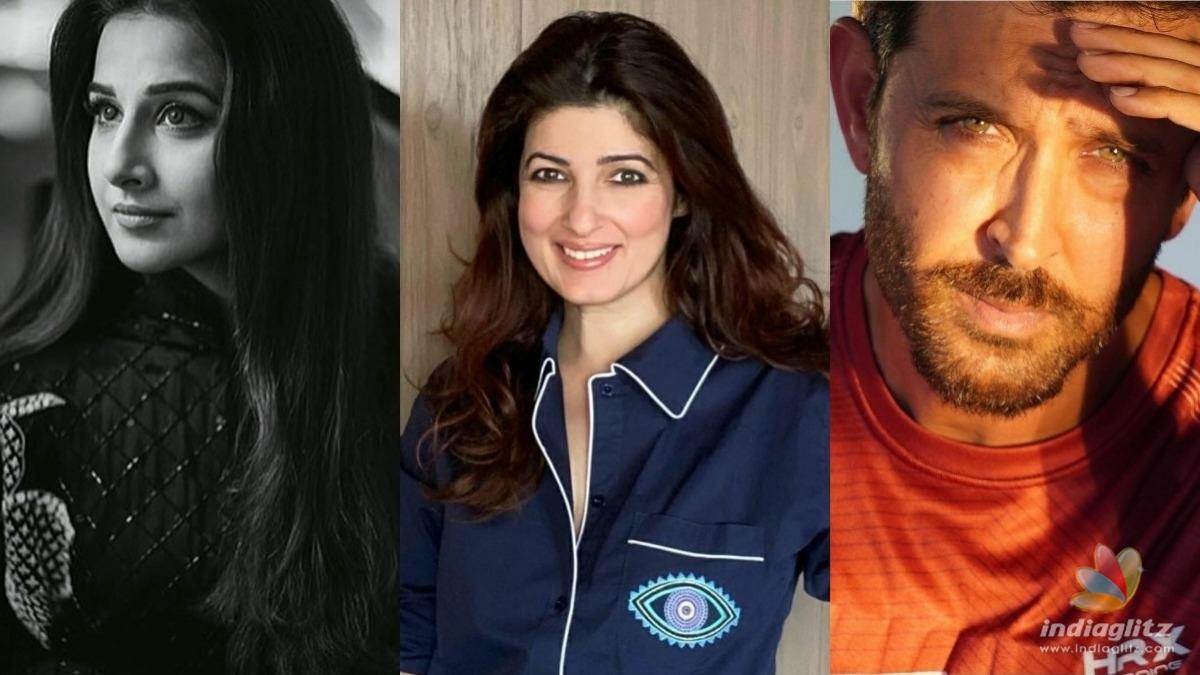 Twinkle Khanna gives a shoutout to Hrithik Roshan and Vidya Balan