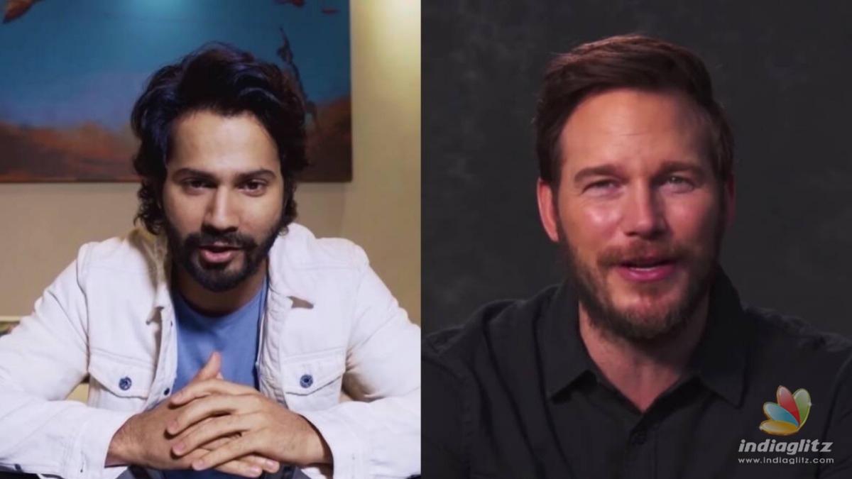 Varun Dhawan helps Chris Pratt promote his next film