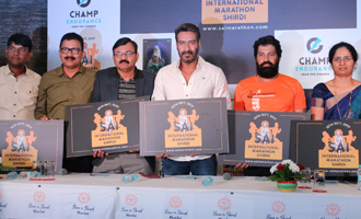 Ajay Devgn at Sai International Marathon Shirdi Press Meet
