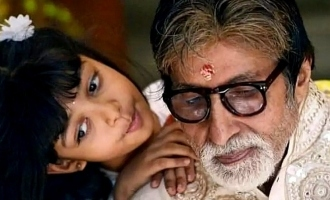 Amitabh Bachchan shares a wholesome photo collage for Aaradhya's birthday.
