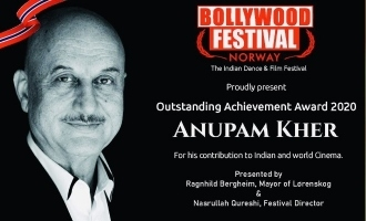 Bollywood Festival Norway honours Anupam Kher with Outstanding Achievement Award.