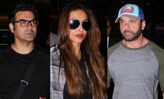 Arbaaz Khan, Sohail Khan & Malaika Arora Spotted at Airport
