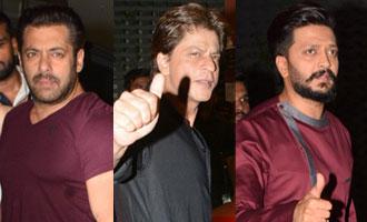 Salman, SRK, Riteish attend Arpita's Diwali bash