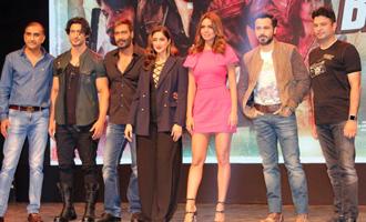 Ajay Devgn, Emraan Hashmi, Ileana D'Cruz at 'Baadshaho' Trailer Launch