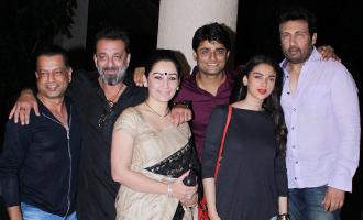 Sanjay Dutt, Aditi Roa Hydari at 'Bhoomi' Wrap-Up Party