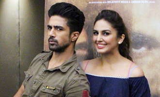 Huma Qureshi & Saqib Saleem at 'Doobara' Media Interaction