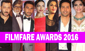 Kajal Agarwal Cleavage Show at Filmfare Awards 2016 videos