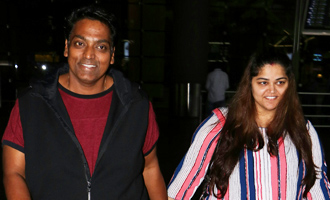 Ganesh Acharya With Wife Spotted at Airport