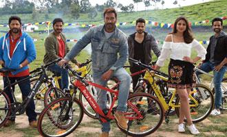 'Golmaal Again' cast uses Salman's Being Human e-cycles