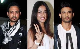 Irrfan, Sushant, Sonal at Screening of 'Hindi Medium'