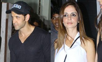Hrithik Roshan & Sussanne Khan Spotted at Bandra