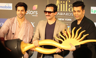 Varun Dhawan & Saif Ali Khan at Press Conference Of 18th IIFA Awards