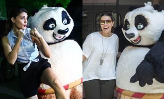 CUTE CLICKS: Jacqueline, Neha have fun with 'PO': 'Kung Fu Panda 3'