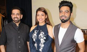 Kajal Agarwal & Aparshakti Khurrana at Launch of Kussh Sinha's Short Film 'Khoon Mein Hai'