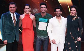 Sushant Singh Rajput & Kriti Sanon Promote 'Raabta' On Set of 'Sabse Bada Kalakar'