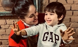 Kareena Kapoor shares adorable pics of herself and Taimur making pottery.