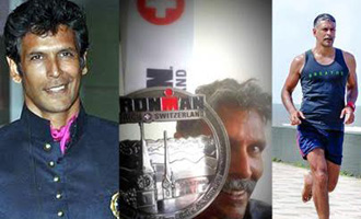 Milind Soman celebrates his 50th birthday by winning world's toughest 'Ironman Triathlon' title!