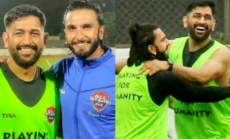 Ranveer Singh's fanboy moment with the former Indian captain MS Dhoni!