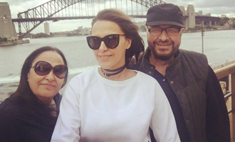 Neha Dhupia clicked with parents in Australia!
