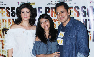 Pooja Batra & Ekta Kapoor at Special Screening of Film 'Mirror Game - Ab Khel Shuru'